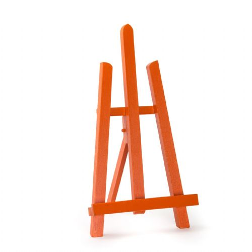 "Orange Colour Easel Essex 16"" - Beech Wood"